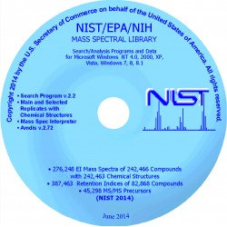 NIST/EPA/NIH Mass Spectral Library and Search Software (NIST14)